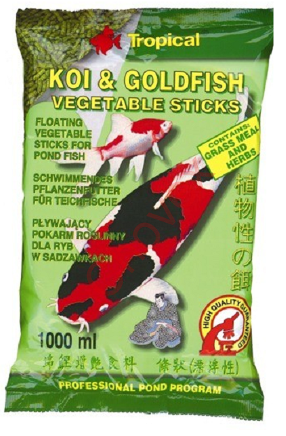 TROPICAL POND Koi-GoldfishVegetable sticks 1l/90g